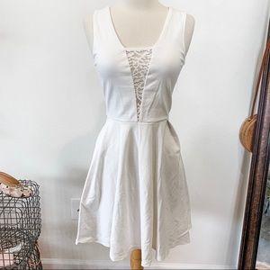 Lulu's white lace skater dress